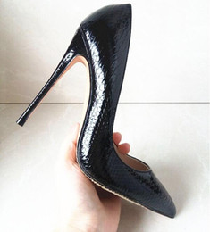 Wholesale Designers Wedding Bridal Shoes - 2017 Women Pumps Snake Shoes Woman Red Bottom Pointed Toe High Heels Shoes Luxury Designer Wedding Bridal Shoes Sexy High Heels EU 35-44