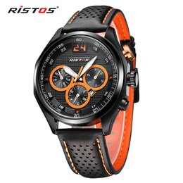 Wholesale Retro Leather Belt - Best Selling South Korea Ristos Europe Trend of Male and Female Students In Sports Lovers Watches Retro Minimalist Black Military Army Belt