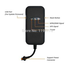 Wholesale Quad 12v - Free shipping Mini Car Vehicle Anti-Theft Quad band GSM GPRS GPS Tracker Device GT02A gps tracker tk102