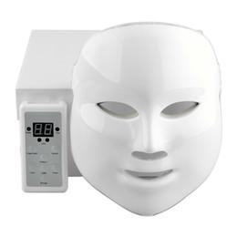 Wholesale Skin Firming Face Mask - 7Colors Korean LED Photodynamic Facial Mask Home Use Beauty Equipment Anti-acne Skin Rejuvenation Photodynamic Masks Gold ,white 2 style