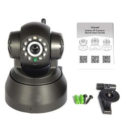 Wholesale Wireless Ir Webcam - Wireless IP Camera WIFI Webcam Night Vision(UP TO 10M) 10 LED IR Dual Audio Pan Tilt Support IE S61 15pcs