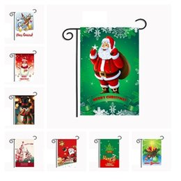 Wholesale Hanging Outdoor Christmas Decorations - New 5 Christmas series Garden Flags American style waterproof Hanging outdoor Flags festival Party Decorations supplies IA671