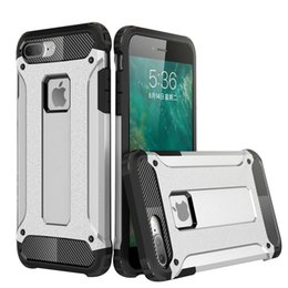 Wholesale Designer Iphone Phone Case - Cell Mobile Phone Cases Covers Accessories For iphone7 Plus Hybird 2in1 TPU Smartphone Cool Brand Designer Shockproof Shell Dual Protection
