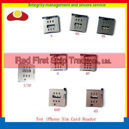 Wholesale Wholesale Memory Card 4g - For iPhone 4 4G 4S 5 5G 5S 5C 6G 6 Plus SIM Memory Card Socket Holder Reader Socket Tray Slot Module Connector