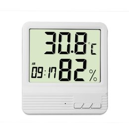 Wholesale Weather Station Clock Led - High Precision Digital Electronic Thermometer Hygrometer Temperature Humidity Alarm Clock Weather Station BN