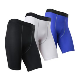 Wholesale Tights Shorts For Men - Wholesale-Base Layer Men's Gym shorts Fitness Bodybuilding workout Shorts Athletic Sport Tight Shorts Running Yoga Fight Short for