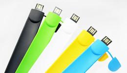 Wholesale 64 Gb Usb Bracelet - 5 Piece No Logo Silica gel Clap with USB Flash Drives Brand New PVC Silica gel Clap with Bracelet U Disk USB2.0