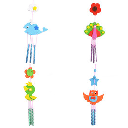 Wholesale Diy Infant Toys - Wholesale-2 Pcs Set Creative Kids DIY EVA Handmade Puzzle Campanula Infants Children Funny Educational Early Learning Manual Bells Toys
