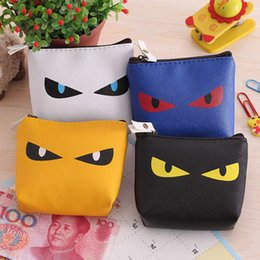 Wholesale Funny Cartoon Bags - 2016 New Arrival 10*8CM Men Women Coin Purse Cute Cartoon Funny Cat's Eye Mini wallets with coin pocket Organizer Small Coin Bag