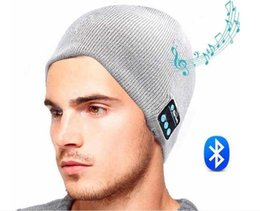Wholesale Multi Speaker - Bluetooth Music Hat Soft Warm Beanie Cap with Stereo Headphone Headset Speaker Wireless Microphone