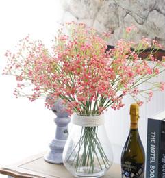 "Wholesale Gypsophila Flowers - Hot Sale Unique 80 Heads 23.6"" Length Artificial Baby's Breath Gypsophila Simulation Flower For Party Wedding Home Decoration Multi Color"