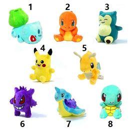 Tartarughe giocattolo morbido online-Pikachu Peluche Bambole Giocattoli 12-17cm 8 Stili Morbidi Peluche Bambole Pikachu Squirtle Charmander Bulbasaur Jeni tartaruga