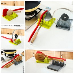 Wholesale Stove For Heating - Silicone Spoon Rest Heat Resistant Kitchen Utensil Spatula Holder Holder Stand for Spoon Stove Cooking Tool OOA2999