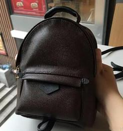 Wholesale Bag Children Backpacks - Wholesale-HOT!!!! Women backpack Special Offer PU Leather bags rivets backpack schoolbag Mini children backpacks M41560 free shipping