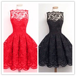 Wholesale Casual Dressess - Fashion Sexy Lace Party Evening Cocktail Ball Gown Ladies Sleeveless Flower Pleated Dress Cheap Women Dressess