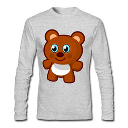 Wholesale Teddy Bears Shirt - High Quality Discount Man Shirts Teddy Bear Cartoon Shirt Round Collar Cotton 2017 Customized Tee Shirts