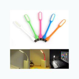 Wholesale Mini Flexible Led Light - Mini USB Lamp Flexible Mini LED Light Portable Night lights usb Lights For Tablet PC Power Notebook USB light 10 colors