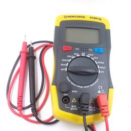 Wholesale Gauge Tester - Wholesale-LCD Digtital Meter XC6013L Capacitance Capacitor Tester mF uF Circuit Gauge Capacitance Meter Tester