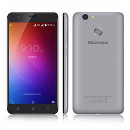 Wholesale Android Phone Dual Cam 8mp - 5.5 inch Phone Blackview E7 Fingerprint Cellphone ID 1GB 16GB MTK6737 Quad Core Android 4G LTE Smart Phone 8MP CAM