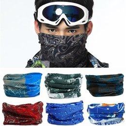 Wholesale Magic Head Scarf - The new Outdoor multi-function Head scarf seamlessly headband scarf Bandanas cycling masks Fishing skeleton changed magic scarf B0539