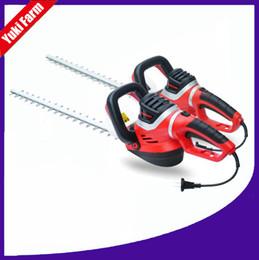 Cercas cortadas on-line-Hedge trimmer cortador de hedge elétrica 220 v cortador de hedge elétrica portátil duplo balde cinto verde trimmer rotary