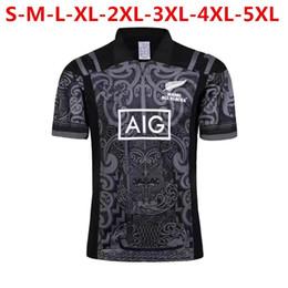 Wholesale Maroon T Shirts - big size 4xl 5xl Hot sales New Zealand Maori All Blacks 2018 NSW BLUES Welsh holden jersey Maroons Rugby Jerseys All Black t shirt