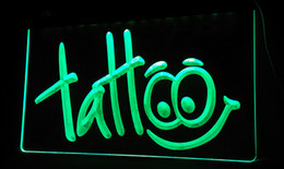 Wholesale Shop Tattoos - LS054-g Tattoo Body Inked Shop Neon Light Sign Decor Free Shipping Dropshipping Wholesale 6 colors to choose