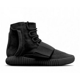 Wholesale Order Summer Shoes - 2016 boost 750 sneakers shoes Kanye West 750 Blackout fashion shoes Mix order accept size eur 36-46