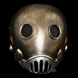 Wholesale Helmets For Halloween - Horror The Clockwork Man Masks Halloween Hellboy Movie Masquerade Kroenen Full Face Helmet Resin Mask Adult Size Cosplay Prop