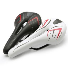 Wholesale Black White Bike Saddle - Wholesale MTB Bike Bicycle Cycle Saddle Seat Black White Mountain Bike Hollow Comfort Cushion Seat Cycling Seat Accessories