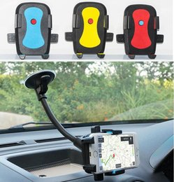 Argentina [VERSIÓN ACTUALIZADA] Car Mount, Long Arm Universal Windshield Dashboard Carphone Phone Car Holder con Strong Suction Cup y X Clamp para iPhone 6 / 6s Suministro