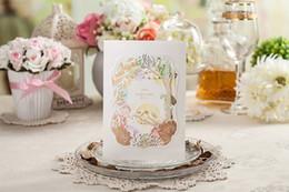 Wholesale Love Bird Wedding Invitations - New Laser Cut Love Birds Wedding Invitations Cards Personalized Printing Hollow Flower Wedding Invitations Cards Sets Wedding Accessories