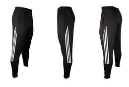 Wholesale Brand Track Pants - NEW 2018 Brand Spring autumn Football training pants leg pants men running training ride cycling jogging Leg track Pencilpants