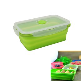 Wholesale Container For Bones - Silicone Collapsible Portable Mess Tin Bowl Bento Boxes Folding Food Storage Container Lunchbox for Outdoor Travel 2017 New