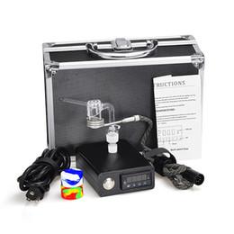 vaporizador cloutank m3 kit Rebajas Vaporizador E de uñas de cuarzo clavo eléctrico Dab Kit completo con controlador de temperatura 100 w para Rig Oil Glass Bongs tubería de agua