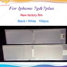 Wholesale Factory Stickers - New Factory Film For iPhone 6 6s 7 7p plus Refurbish Front + Back refurbish Screen Protector Sticker New Phone Film For iPhone 4.7 5.5