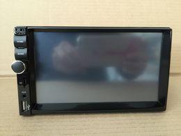 Wholesale Rear Dvd Player - 6PCS ctn sale Double din 2din universal 178*102CM 7inch deckless car dvd car radio bluetooth player mp3 mp4 mp5 1080P Hd SWC CCD 7Color