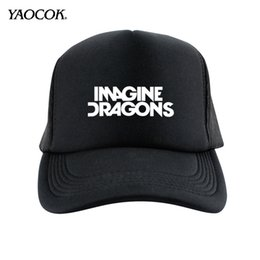 Wholesale Rock Snapback Hats - Wholesale-Free Shipping New 2016 Winter Hip Hop Custom Printed Imagine Dragons Punk Rock Band Mens Hats And Snapback Caps Sport Brand