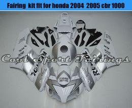 Wholesale Bike Body Fairings - Injection ABS Silver Fairing Kit Fit for Honda 04 05 2004 2005 CBR1000RR Body Frames Plastic Fairings Motorcycle Bodywork Bike Kit
