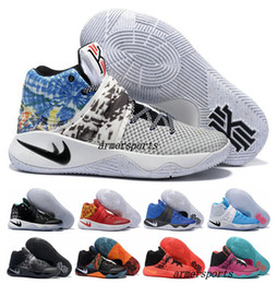 Wholesale M Ii - New 2017 Kyrie Irving Shoes Mens Basketball Shoes Kyrie 2 II Bright Crimson Tie Dye BHM Basket Ball Olympic Men Shoes Sneakers For Cheap