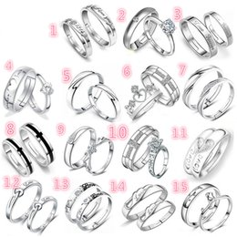Wholesale Anniversary Deliveries - 925 Silver Lovers ring opening zirco and Charm Ring Free Delivery