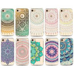 Pour iPhone7 iPhone 7 Cas Floral Paisley Fleur Mandala Dessin Coloré Soft TPU Cas Couverture Arrière Pour iphone 5s 6 6 s plus 7 7 plus 286 ? partir de fabricateur