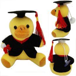 Wholesale Graduation Stuffed Animals - Stuffed Animals Graduation Duck 13cm Em Plush Pato Toy With Hat and Book Formatura Doctor Duck Soft Dolls