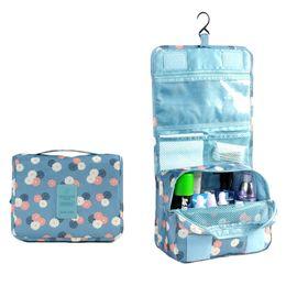 Wholesale Sets Traveling Bags - Hot Sale Fashion Korean Cosmetic Handbags Print Waterproof Wash Bag With Hoook Traveling Storage Bag Makeup Bag