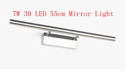 Wholesale Mirror Light Led 7w - 7W Bathroom Mirror Light 30 LED 5050 SMD Warm White Front Light Lamp LED Bath Wall Light Stainless Steel