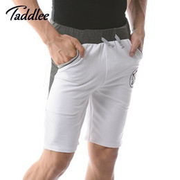 Wholesale Sexy Running Shorts Men - Wholesale-Men Casual Shorts Cotton Mens Sports basketball Shorts Brand Running Summer 2016 New Fitness Gym Workout Leisure Shorts Sexy Gay