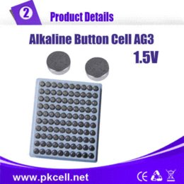 Wholesale Lr736 Button Cell - 1000Pcs PKCELL 1.5V AG3 392A SR41SW LR736 392 SR736 Alkaline Cell Button Coin Battery lot hair lot news