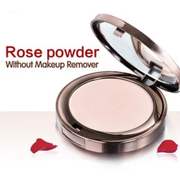 Wholesale Face Powder Pearls - Brand Face Skin Beauty Rose Plant Pearl Pressed Powder 10g Concealer Moisturizing Oil Control Brighten Sunscreen Foundation