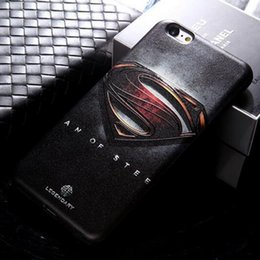 Wholesale Slim Case Iphone Free - Ultra Slim Superman Phone Case For iphone7 7 Plus TPU Soft Case Ironman Spiderman Captain American Covers Free Shipping