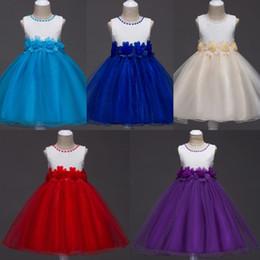 Wholesale Organza Dresses For Little Girls - Stock Stunning Ball Gown Flower Girl Dresses Jewel Neck Beads Knee Length Wedding Event Dresses For little Kids Wholesale MC1050